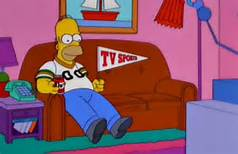 Simpson, vendo TV
